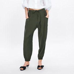 NWT Zara Flowy Cuffed Pants With Pockets